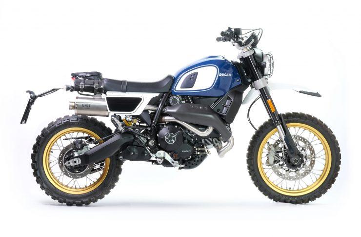 Fuoriluogo Kit Ducati Desert Sled 800 Blue