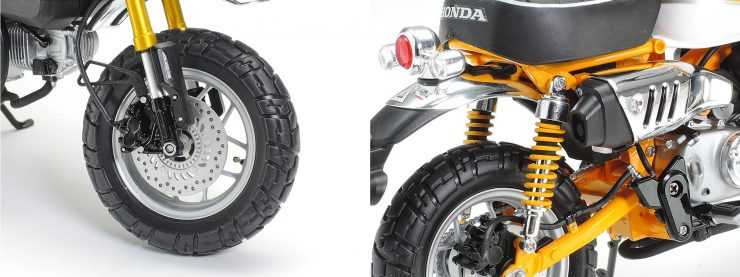Honda Monkey 125 Tamiya Model Front Wheel