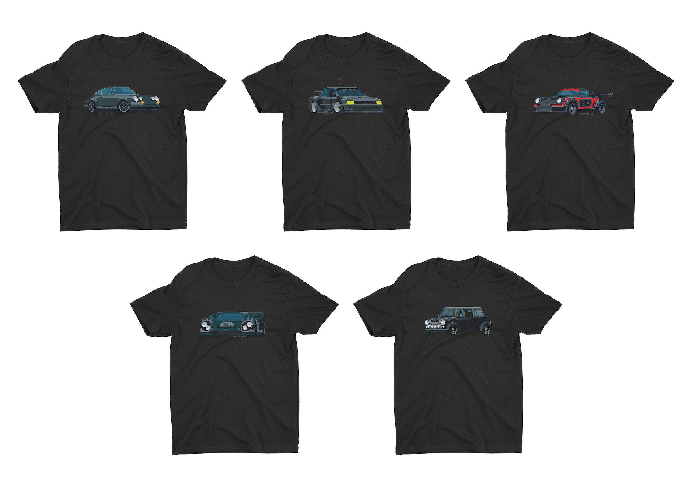 Nik Schultz Car T-Shirt Collage