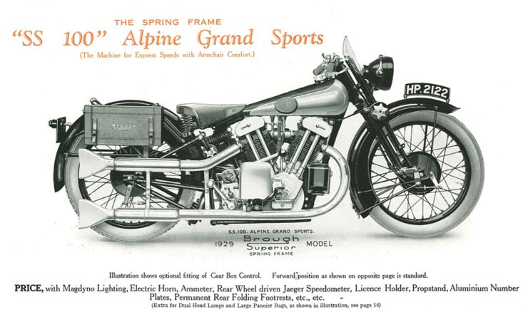 Brough Superior SS100 Alpine Grand Sports motocycle