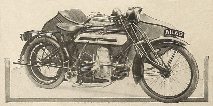 Brough boxer engine flat tank