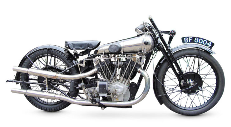 Brough Superior SS100 Pendine racing motorcycle