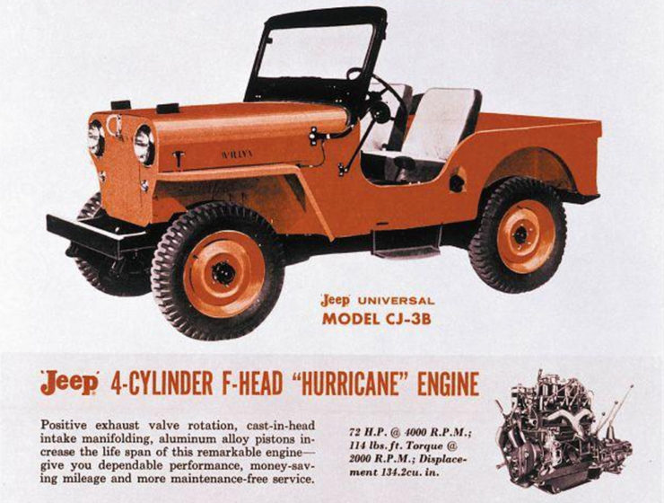 Jeep CJ3 Hurricane engine