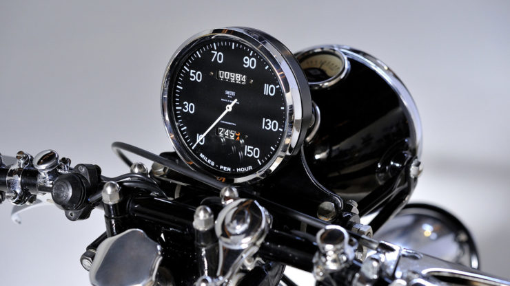 Vincent Black Shadow motorcycle speedometer