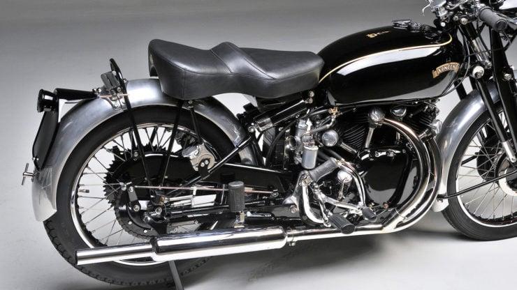 Vincent Black Shadow cantilever rear suspension