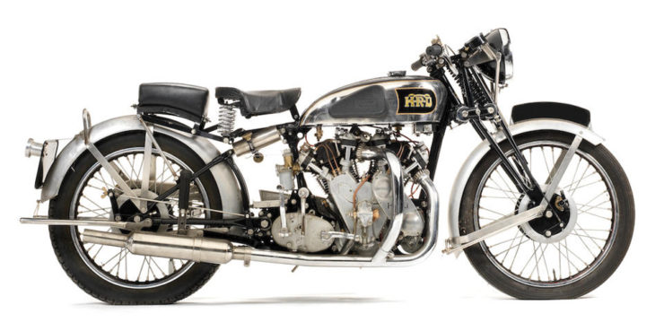 Vincent Rapide Plumber's Nightmare motorcycle