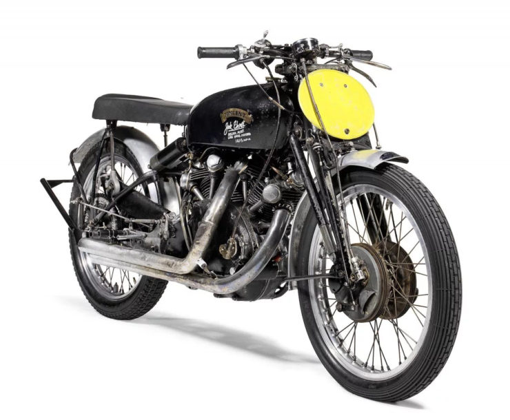 Vincent Black Shadow Jack Ehret Australian motocycle speed record