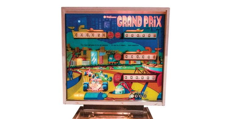 Grand Prix Pinball Machine by Williams Top