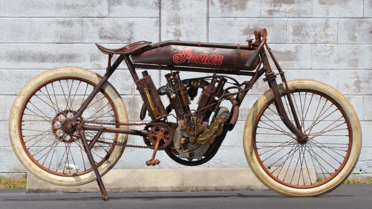 Indian 8-Valve Twin Board Track Racer