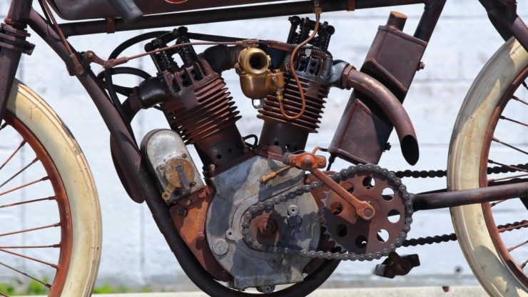 Indian 8-Valve Twin Board Track Racer Engine 2