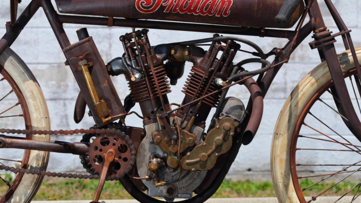 Indian 8-Valve Twin Board Track Racer Engine