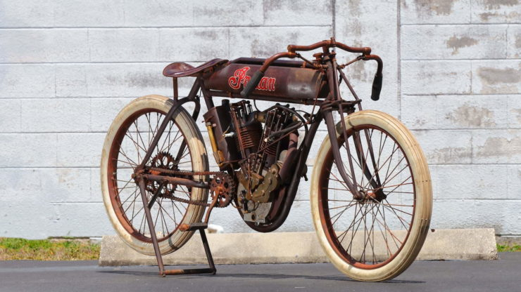 Indian 8-Valve Twin Board Track Racer Front