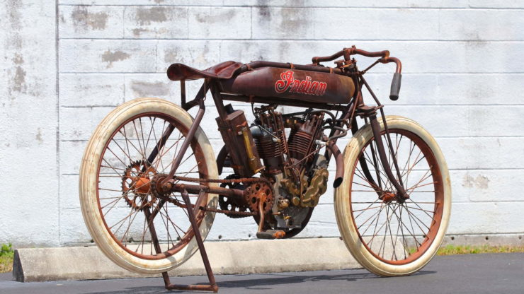 Indian 8-Valve Twin Board Track Racer Rear