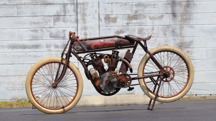 Indian 8-Valve Twin Board Track Racer Side