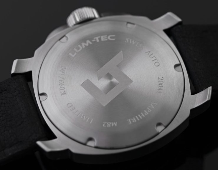 Lum-Tec M82 Swiss Automatic Watch Back