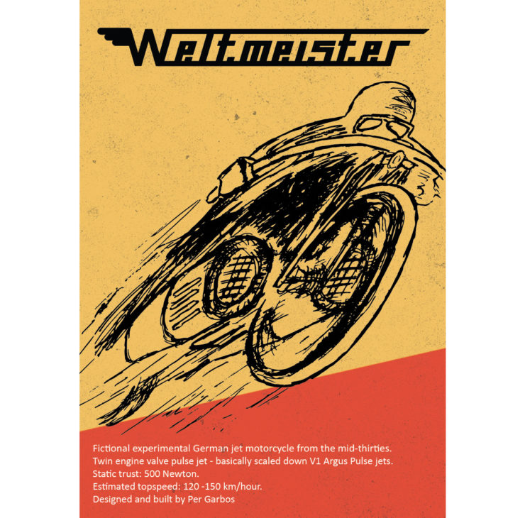 Pulsejet Motorcycle Poster