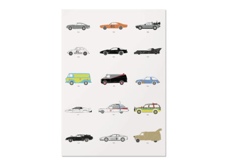 The Film Classic Car Poster by Rear View Prints