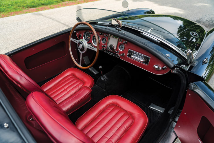 MGA Twin Cam sports car cockpit interior