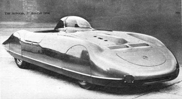 MGA EX179 speed record car