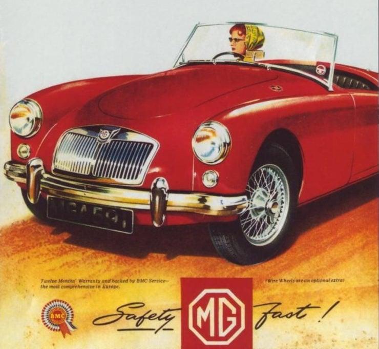 MGA sports car advertisement