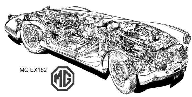 MGA LeMans car diagram
