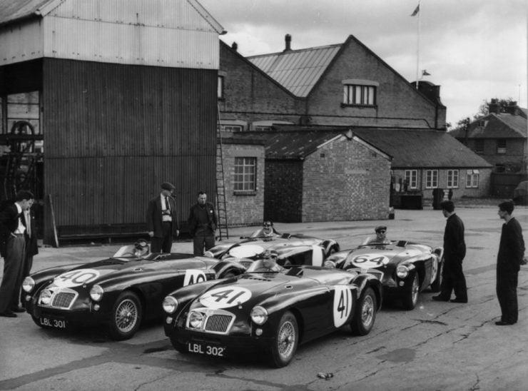 Le Mans MGA race cars Abingdon