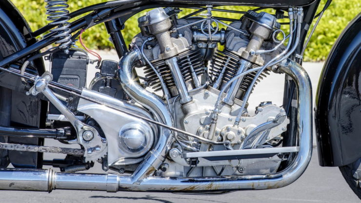 Crocker V-twin Engine