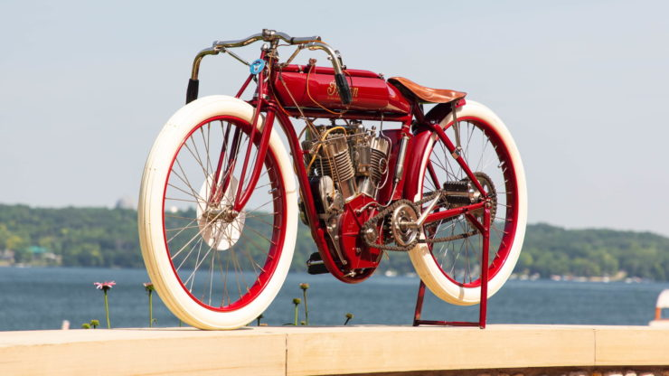 Indian Twin Board Track Racer Front