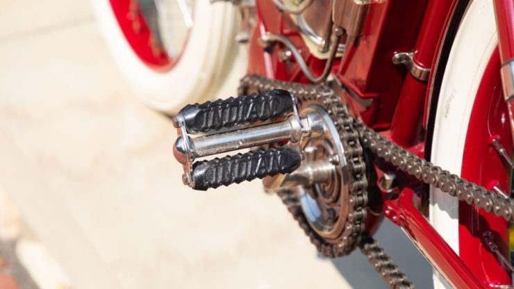 Indian Twin Board Track Racer Pedal