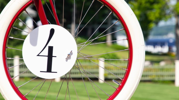 Indian Twin Board Track Racer Racing Number