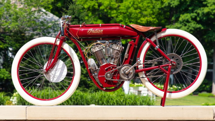 Indian Twin Board Track Racer Side