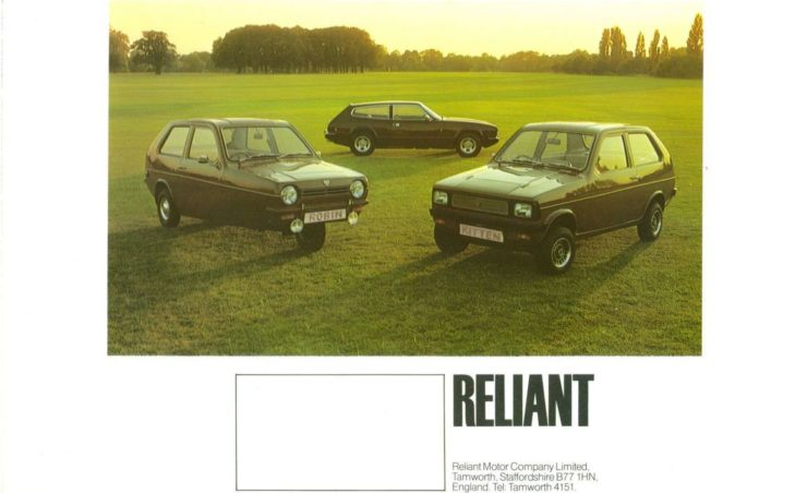 Reliant Robin Brochure Cover