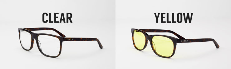 SKRAM Glasses Clear or Yellow