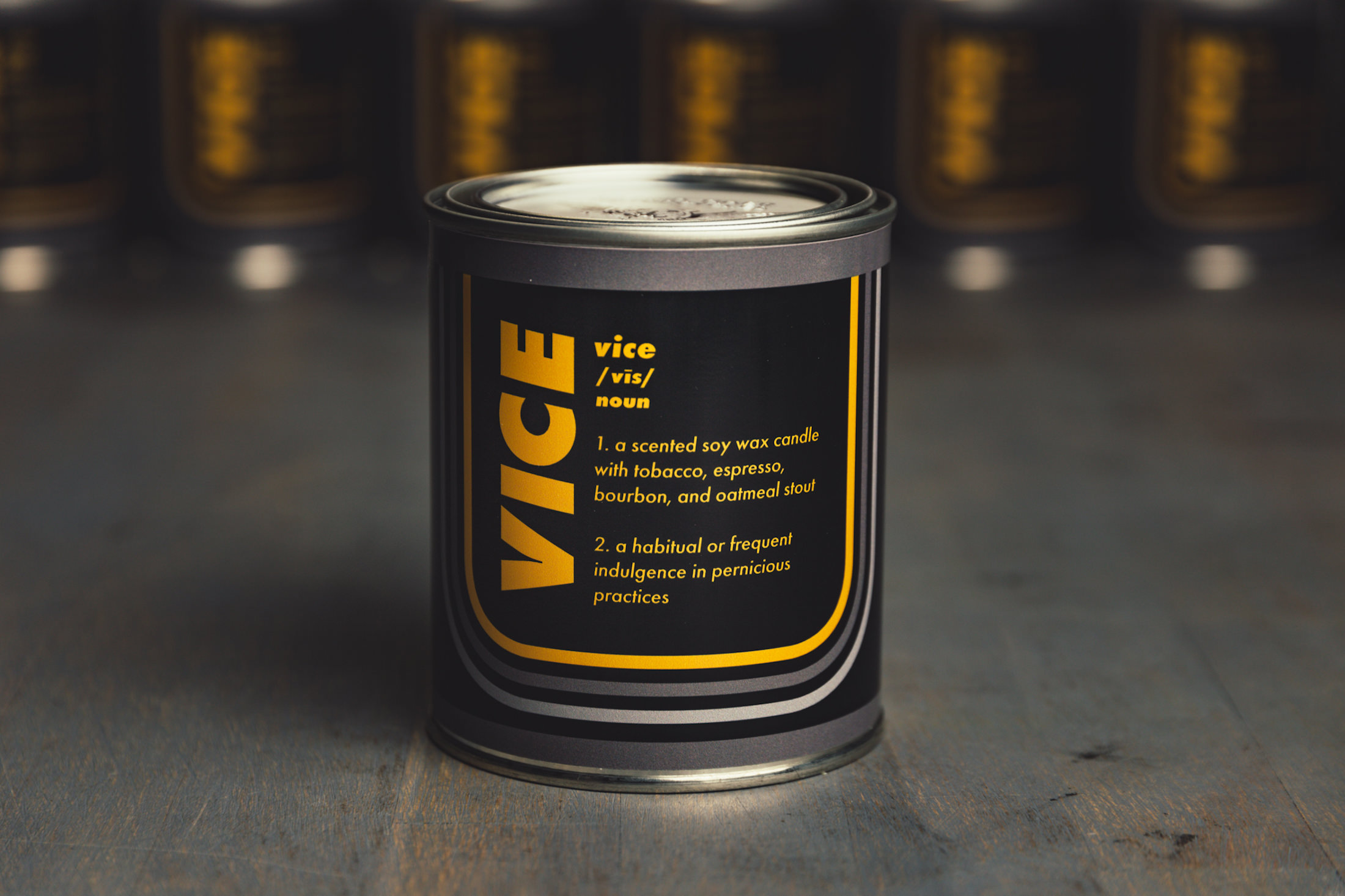 Vice Candle - A Tobacco, Bourbon, Espresso, and Oatmeal Stout Scented Candle 3