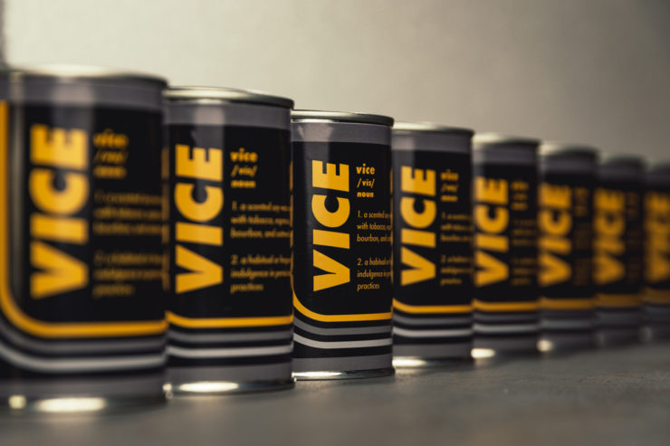 The Vice Candle – A Tobacco, Bourbon, Espresso, and Oatmeal Stout Scented Candle
