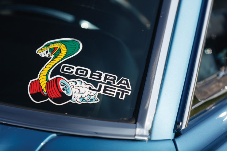 1968 Ford Mustang 428 Cobra Jet Sticker