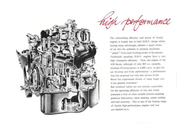 Austin A30 Engine Cutaway