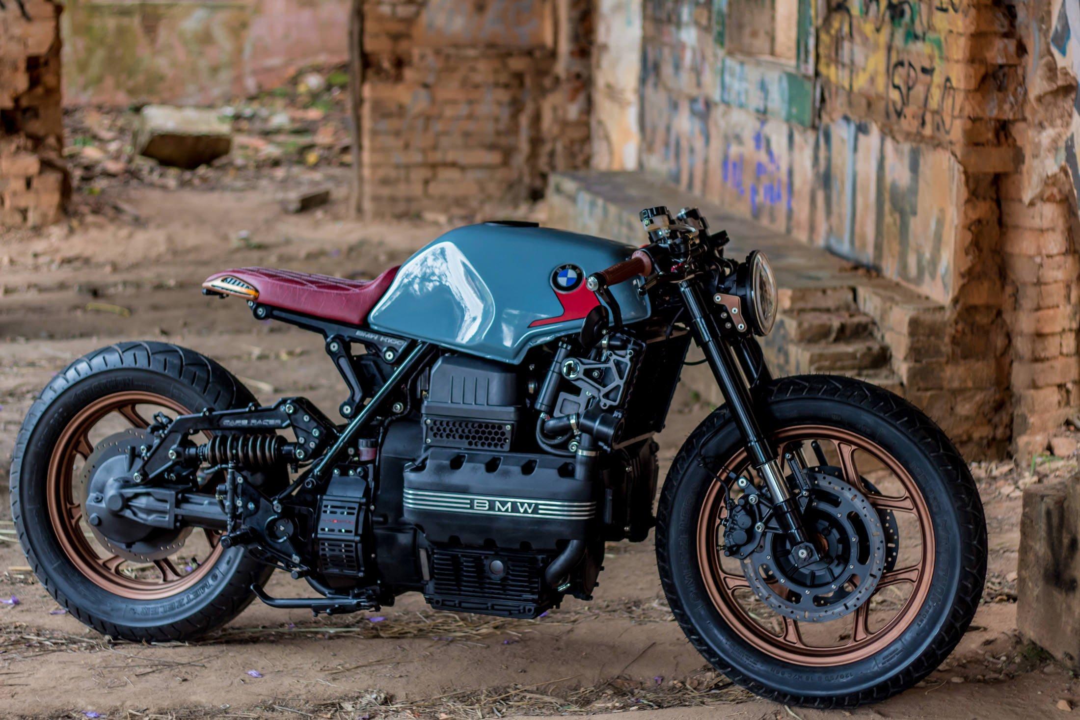 BMW Kafe Racer, BMW K100 Cafe Racer, Naked Bike - YouTube