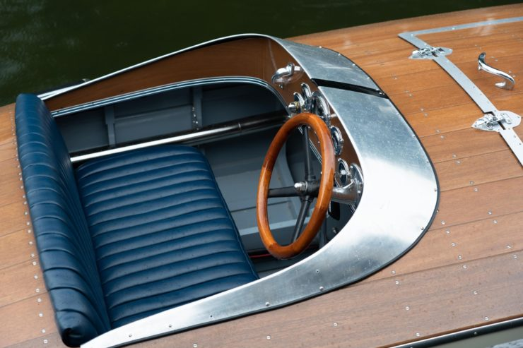 Bugbite Mahogany Speedboat Cockpit
