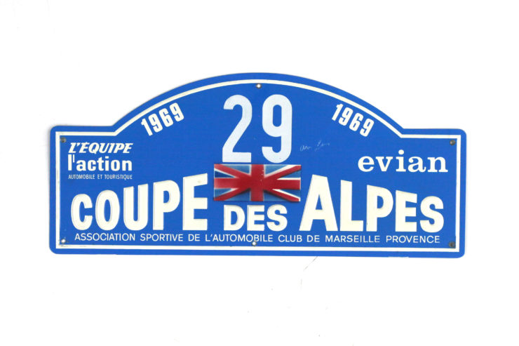 Coupe Des Alpes Rally Plate, 1969
