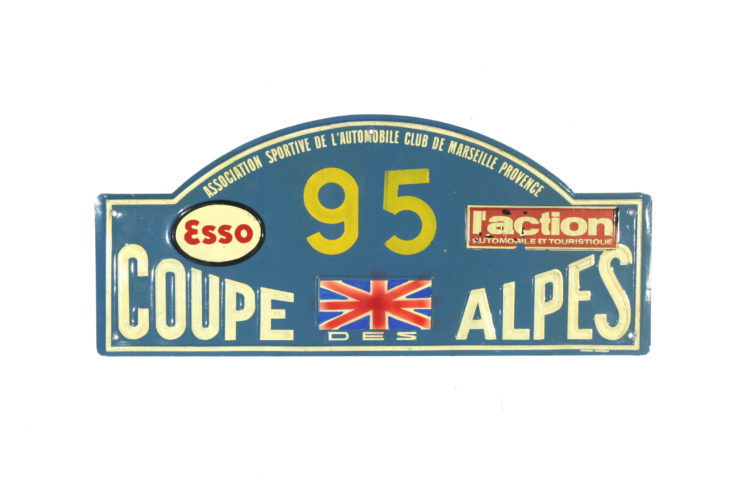 Coupe Des Alpes Rally Plate