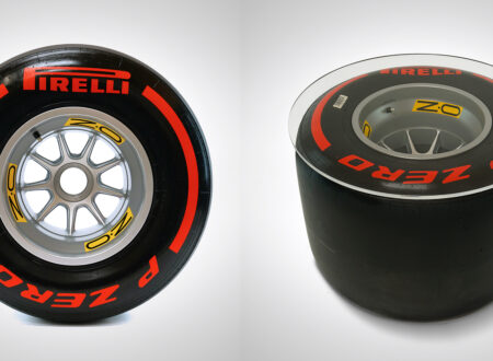 Formula 1 Wheel and Pirelli Tire Coffee Table Side 1