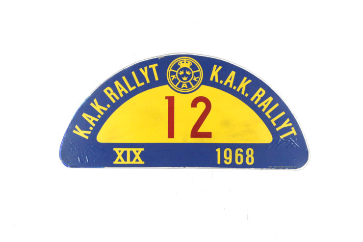 'K.A.K Rallyt' Rally Plate, 1968