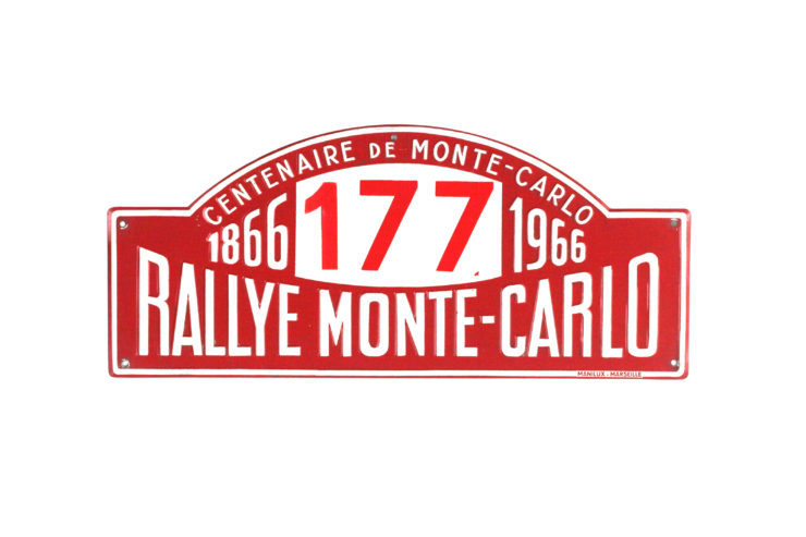 Monte Carlo Rally Plate, 1966
