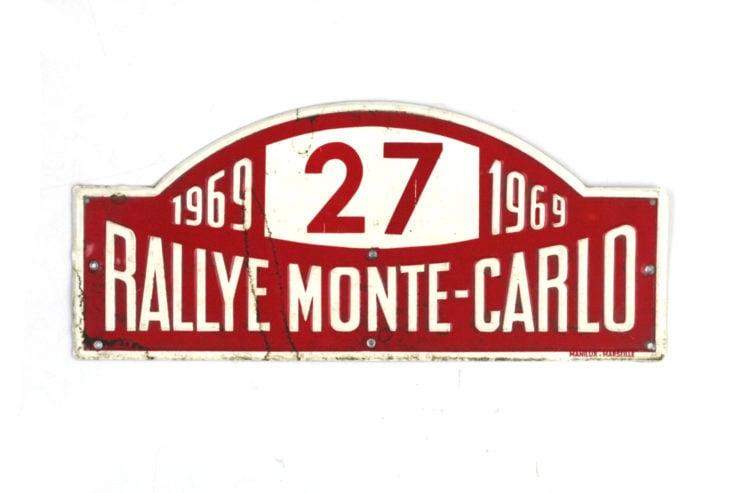 Monte Carlo Rally Plate, 1969