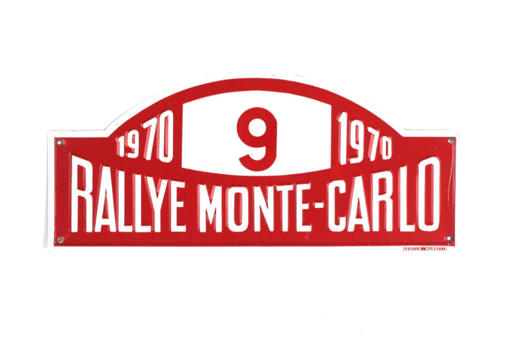 Monte Carlo Rally Plate, 1970
