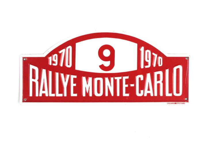 Monte Carlo Rally Plate, 1970