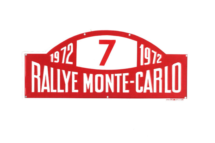 Monte Carlo Rally Plate, 1972