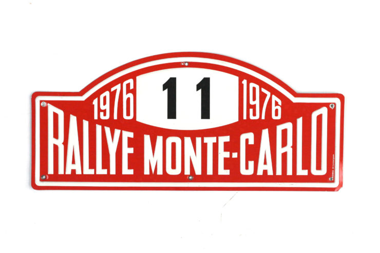 Monte Carlo Rally Plate, 1973