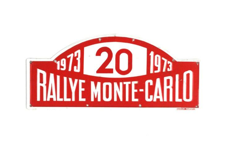 Monte Carlo Rally Plate, 1973
